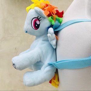 My Little Pony Rainbow Dash Plush Backpack EUC